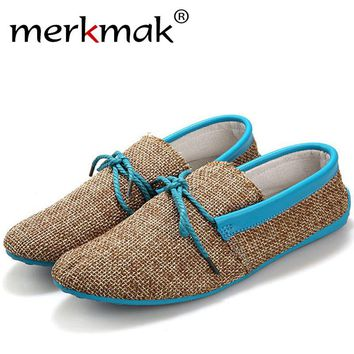 2017 Summer Mens Loafers Casual Flat Shoes Knitted Woven Shoes Breatbale Natural Male Convenient Driving Shoes Flats Big Size 45