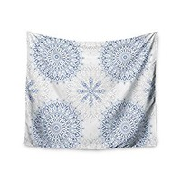 "KESS InHouse Julia Grifol ""Mandalas In Blue"" Vector Geometric Wall Tapestry, 51"" x 60"""