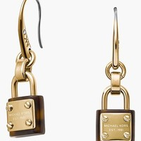 Women's Michael Kors 'Padlock' Drop Earrings