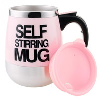 450ml Automatic Plain Mixing Self Stirring Coffee Mug