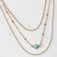 LA Hearts Turquoise Layered Necklace at PacSun.com