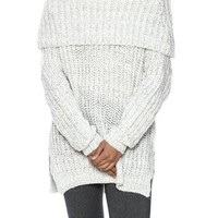 Off Shoulder Chunky Sweater
