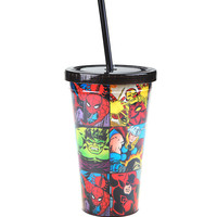 Marvel Heroes Collage Acrylic Travel Cup