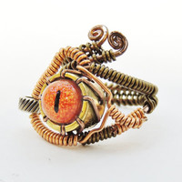 Steampunk Ring, Steampunk ring for men, steampunk wire ring