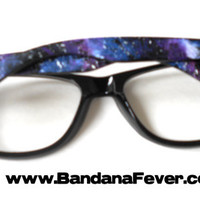 Bandana Fever Custom Wayfarer Glasses/Galaxy