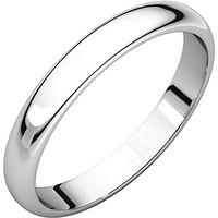 3 mm Comfort Fit Plain Gold Wedding Band