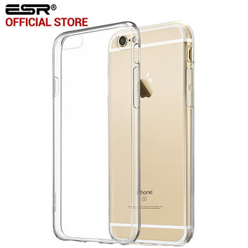 ESR Ultra Slim Perfect Fit Hybrid Case Soft TPU Hard Clear Back Cover for iPhone 6 Plus/6s Plus