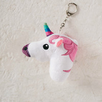 Unicorn White & Pink Keychain
