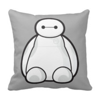 Classic Baymax Sitting Graphic Throw Pillow