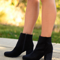 Wait For Me Booties- Black