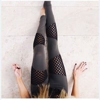 Fashion Exercise Fitness Gym Yoga Running Leggings Sweatpants [9461667911]