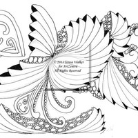 Intricate Colouring Sheet Zen Doodle Instant Download pdf Abstract Art Zentangle Inspired. 'Hermit'