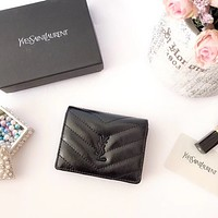 YSL SAINT LAURENT WOMEN'S LEATHER WALLET