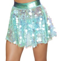 Flare Sequin Skirt