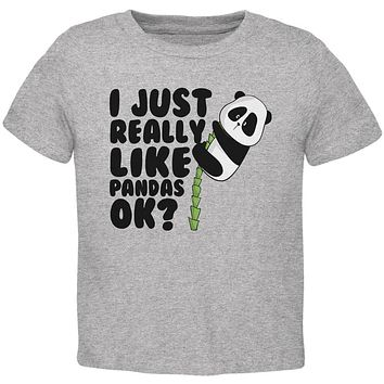 I Just Really Like Pandas Cute Toddler T Shirt