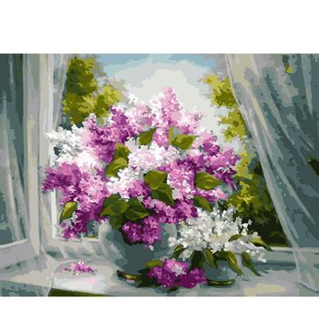 YANXIN DIY Framed Painting By Numbers Oil Paint Photo Wall Art Digital Pictures Painting Decor For Home Decoration Gifts Q1251