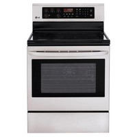 LG Electronics 6.3 cu. ft. Single Oven Electric Range with Self-Cleaning Convection Oven in Stainless Steel-LRE3083ST - The Home Depot