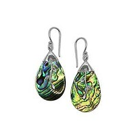 AE-1152-AB Sterling Silver Earring With Abalone Shell