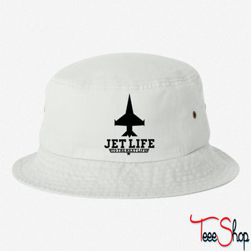 Jet Life To The Next Life bucket hat