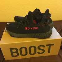 Yeezy Boost 350 V2. Brand New In Box Bred Black Red Size 11.5 US