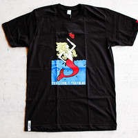 B WOOD - The Lonely Traveler Tee  Black