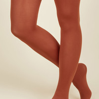 Accent Your Ensemble Tights in Clay | Mod Retro Vintage Tights | ModCloth.com