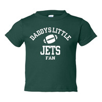 Daddys Little Jets Fan Toddler And Youth T-Shirt New York Fans Printed Tee for Kids Creepers & T-Shirts. Makes a Great Gift!!
