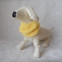 Snood Yellow Soft  Scarf for dog  Neck Warmer for  Medium Dog Hand Knitted READY TO SHIP