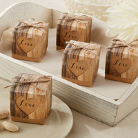 Wood Favor Boxes (Set of 24)