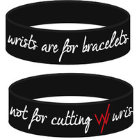 Sleeping With Sirens   Wrists Are For Bracelets (Black)