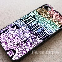 Fall Out Boy Art Quote Made For iPhone 4/4S/5S/5C/6/6Plus Case, Samsung Galaxy S3/S4/S5 Cases