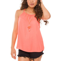 Berkley Top - Neon Coral