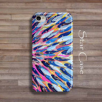 iPhone 4/ 4s and 5 Case - Abstract Fishes - iPhone Hard Case - Cell Phone Cover Purple Blue Colorful Ocean