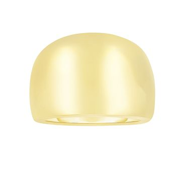 14k Yellow Gold Domed Womens Ring, 7