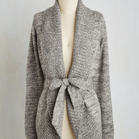 Minimal Long Long Sleeve Adventure and Splendor Cardigan in Ash