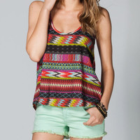 Billabong For Sure Womens Tank Black Multi  In Sizes