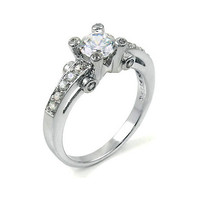 Astrid's Diamond CZ Bezel Accented Promise Ring