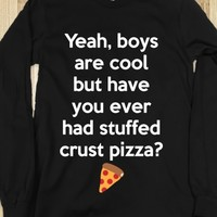 Stuffed Crust-Unisex Black T-Shirt