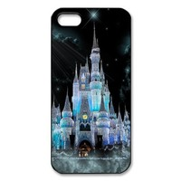 Custom Disney Castle Cover Case for iPhone 5/5s WIP-3628 (Ice City)
