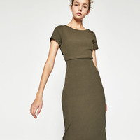 RIBBED CROSSOVER BACK DRESS - View All-DRESSES-WOMAN | ZARA United States