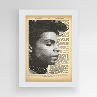 Prince Wall Art, Prince Vintage Dictionary, Prince Poster, Prince Art, Instant Download Wall Art, Vintage Wall Decor, Prince Tribute,