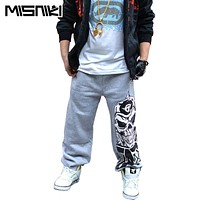 Spring New Popular Street Style Sweatpants For Men Skull Designer Jogger Pants Hip Hop Men Trousers