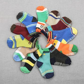 12Pair/set Baby Socks Cotton Baby Children Socks For borns Gift Animal Lot Anti Slip With Rubber Soles For Child Boy Girl