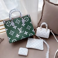 LV double-sided handbag shopping bag messenger bag pillow bag change bag four-piece set