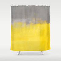 A Simple Abstract Shower Curtain by T30 Gallery