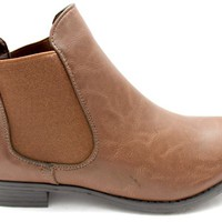 BROWN Olivia Vintage Style Chelsea Boots at Mr Shoes UK
