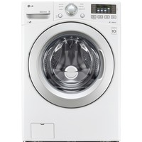 Shop LG N/A 4.3-cu ft High-Efficiency Stackable Front-Load Washer (White) ENERGY STAR at Lowes.com