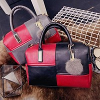Ladies crossbody bags casual pillow bags for women 2017 leather shoulder bags female patchwork handbags