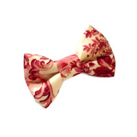 Victorian hair bow - mini pink bows - french barrette or alligator clips - flower girl danity and delicate shabby chic wedding accessories