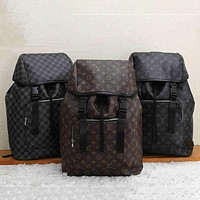 LV simple classic retro presbyopia men and women large capacity backpack bag